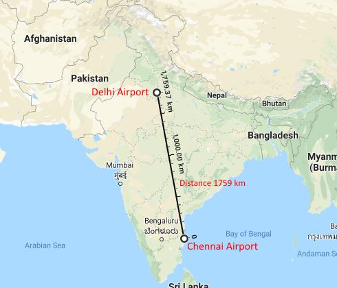 दिल्ली से चेन्नई कैसे पहुंचे