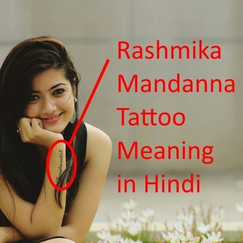 rashmika mandanna tattoo meaning in hindi